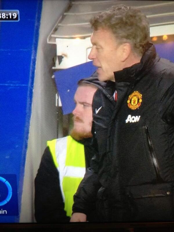 Wayne Rooney lookalike Chelsea steward spotted at Stamford Bridge