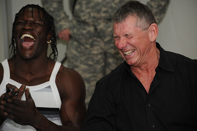 Ron Killing and the WWE CEO laughing at the the best Vince McMahon Newcastle jokes after bid rumour