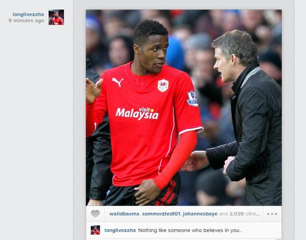"""The Wilfried Zaha Instagram that was """"not intended as a dig"""" at David Moyes"""