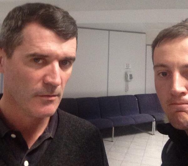 Roy Keane selfie
