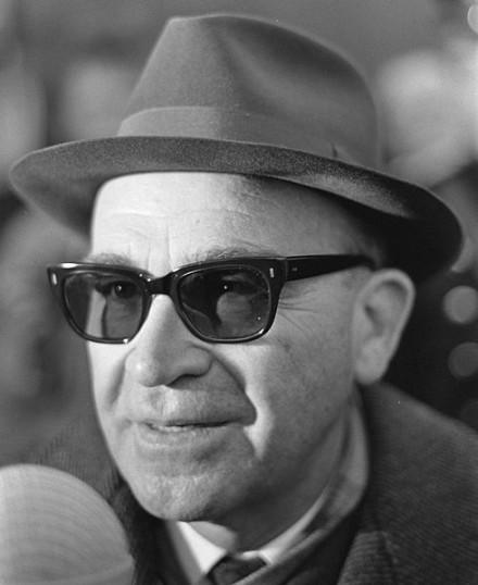 Former Benfica manager Béla Guttmann, pictured here in 1966, featured heavily in the best Europa League final tweets after Sevilla won the cup
