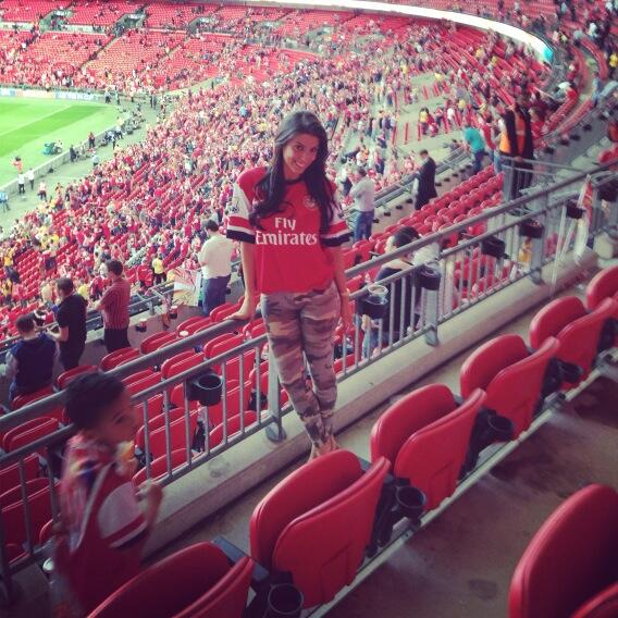 Almost making it into the top ten Ludivine Kadri Sagna photos, Bacary Sagna's wife at Wembley for the FA Cup final