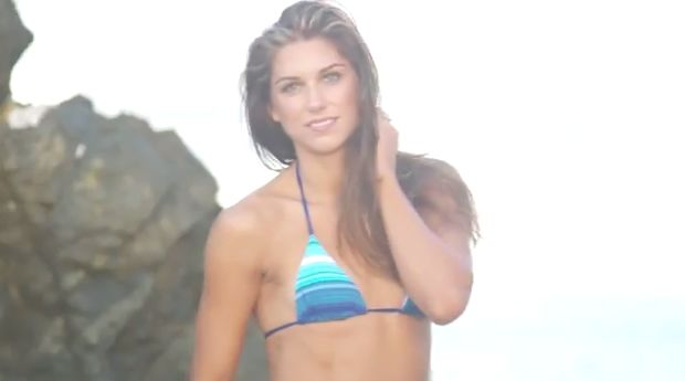 One of the top five Alex Morgan videos is this Sports Illustrated Swimsuit 2014 shoot
