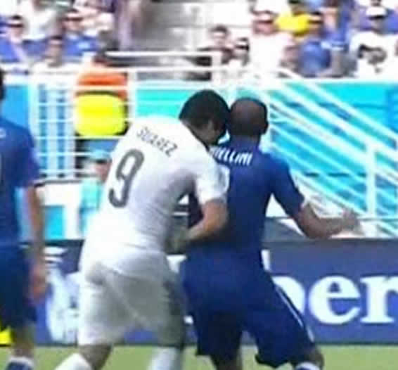 The Luis Suárez Italy bite jokes rolled in after this attack on Italy's Chiellini