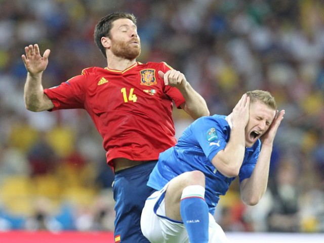 Xabi Alonso in happier times