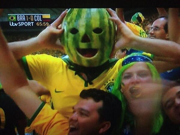 Melon Head at Brazil 2014, one of the best World Cup fan costumes