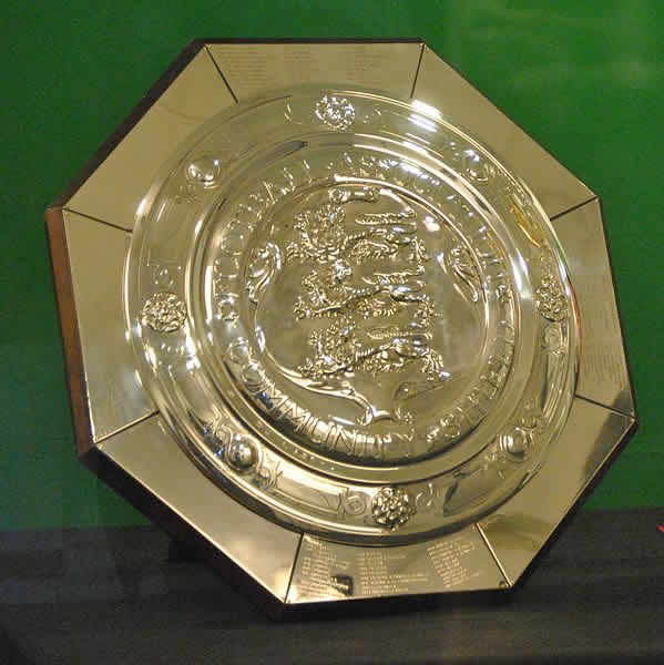 The Community Shield tweets and jokes are all based around this trophy, awarded in 2014 to Arsenal after their 3-0 defeat of Manchester City