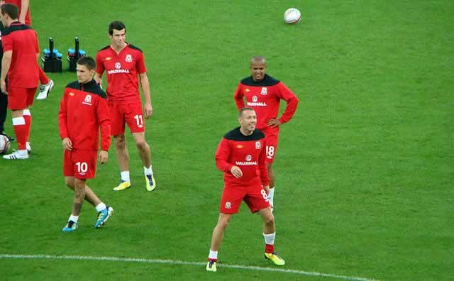 Gareth Bale with his Welsh team-mates, well before the jokes form Andorra v Wales and his two goals