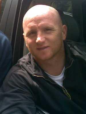 John Hartson, challenged by Stoke City chairman