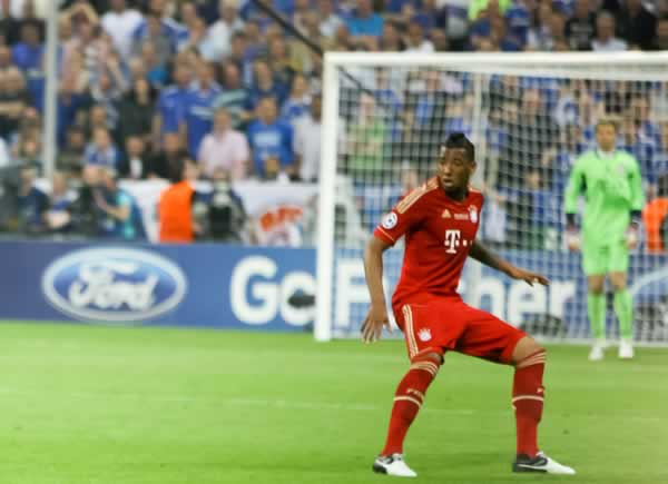 Seen here playing for Bayern Munich, before the Jérôme Boateng jokes and memes began following Messi's goal in the Champions League semi-final first leg