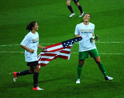 Carli Lloyd and Hope Solo were victorious in the Women's World Cup final