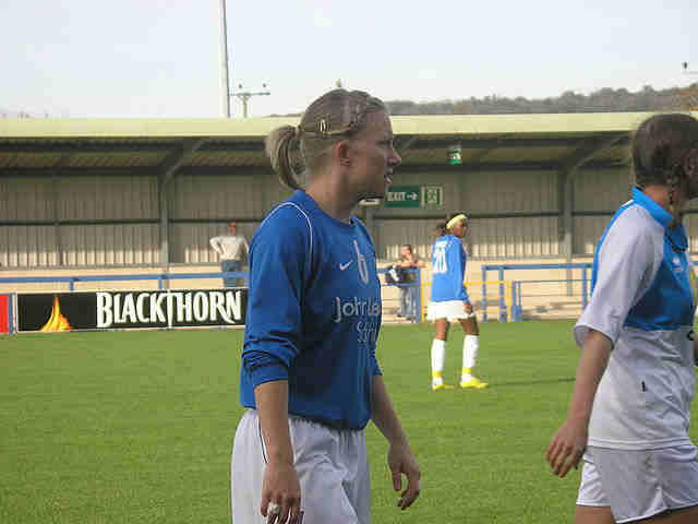 England Women own-goal-scorer Laura Bassett playing for Birmingham City Ladies