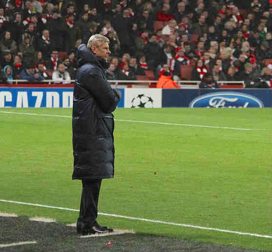 Arsène Wenger grimaces as Arsenal draw Bayern Munich again