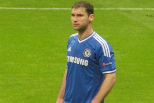 Chelsea fans made Branislav Ivanović jokes after his poor performance in their 2-1 Champions League defeat to Porto
