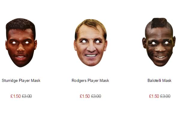 Reduced Liverpool face masks, available now in the LFC club store
