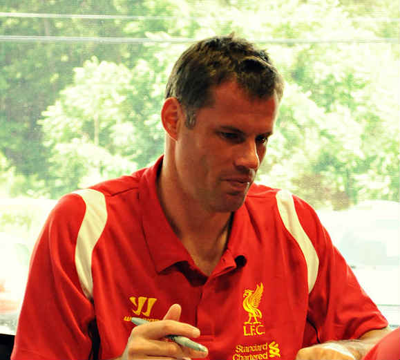Funny Jamie Carragher moments tend to involve this guy