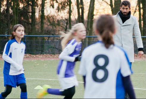 Kerem Demirbay referees girls' match