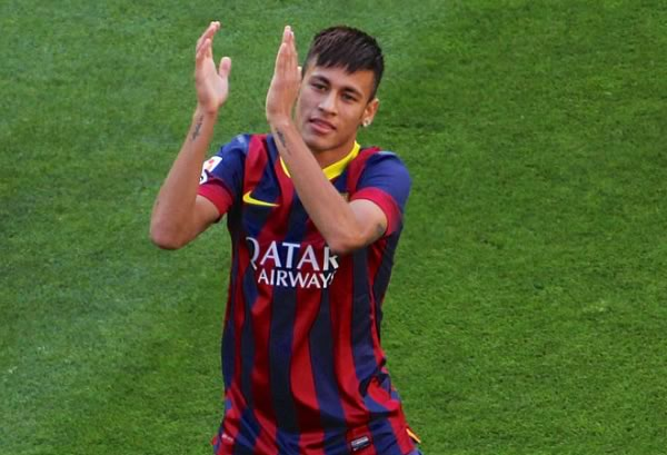 Neymar clapping, like he would if he saw the jokes after Arsenal were knocked out of the Champions League after a 3-1 second-leg defeat in Barcelona