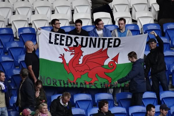 Many Leeds and Steve Evans jokes emerged after their 4-0 defeat in Brighton, perhaps from these fans