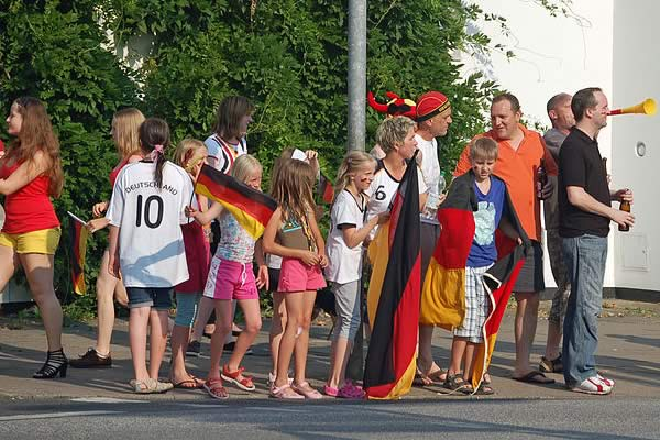 The jokes from Germany 2-0 Ukraine will be a source of laughter for these German fans now their first win of Euro 2016 has been secured