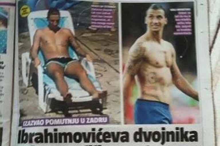 Zlatan lookalike Mario Delic who was spotted sunbathing on a Croatian beach