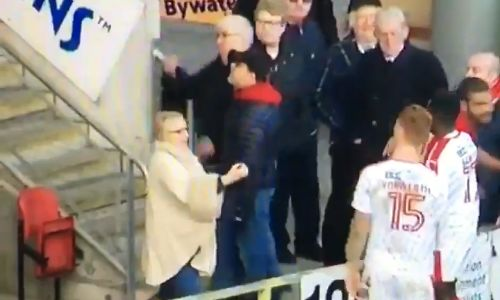 Woman abuses Crawley players beside pitch at Leyton Orient on Boxing Day