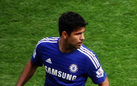 Diego Costa was the topic of Theresa May's speech