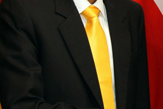 Yellow tie, symbolic of transfer deadline day