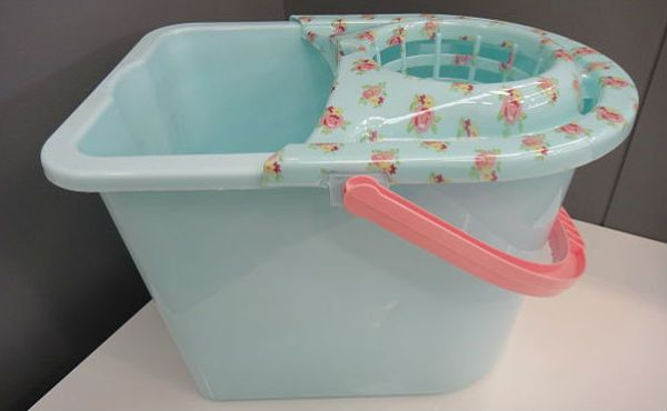 Wash bucket, as used by a Trabzonspor fan made to clean seats