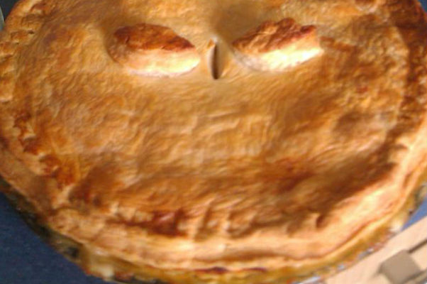 Piegate involved Wayne Shaw eating a pie like this