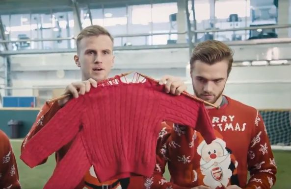Arsène Wenger gives a knitting lesson for Save the Children's Christmas Jumper Day 2017