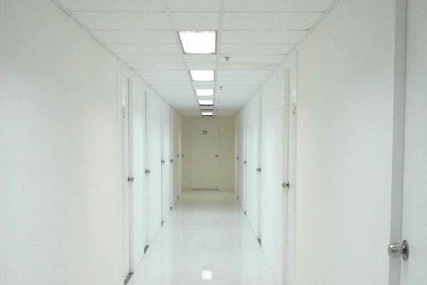 A Matrix-style corridor