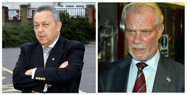 West Ham owners David Sullivan and David Gold
