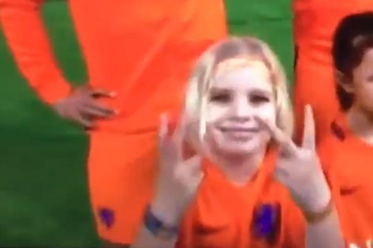 Lots of people made jokes about the Dutch mascot who showed V-sign on coverage of their 0-1 friendly defeat to England
