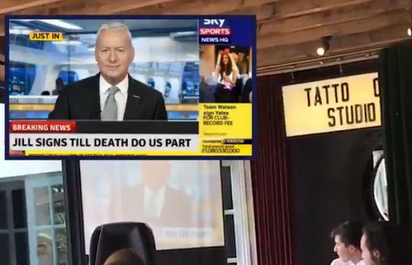 Wedding speech cuts to Sky Sports News announcement