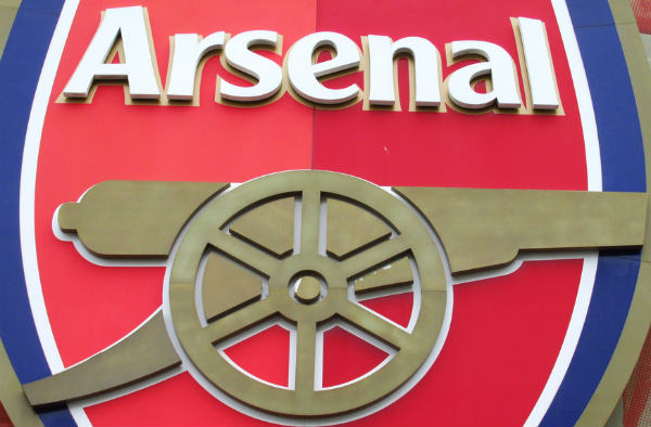 Arsenal's club badge depicts a cannon