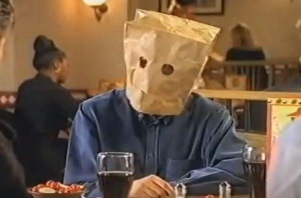 Gareth Southgate in a 1996 Pizza Hut advert