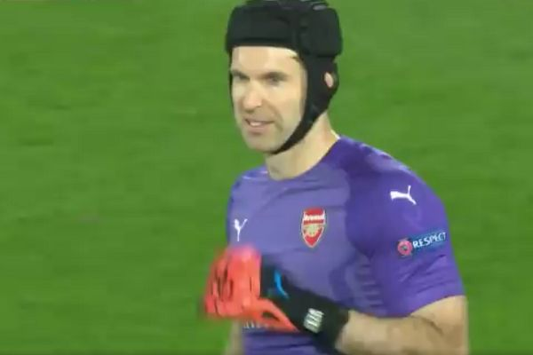 There were many tweets and jokes after Arsenal lost 3-1 at Rennes in a Europa League round of 16 first leg, that Petr Čech won't want to look at