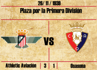athletic aviacion osasuna atletico de madrid guerra civil primera división 1939