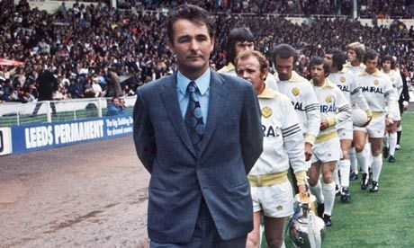 Brian Clough con el Leeds United. The Guardian