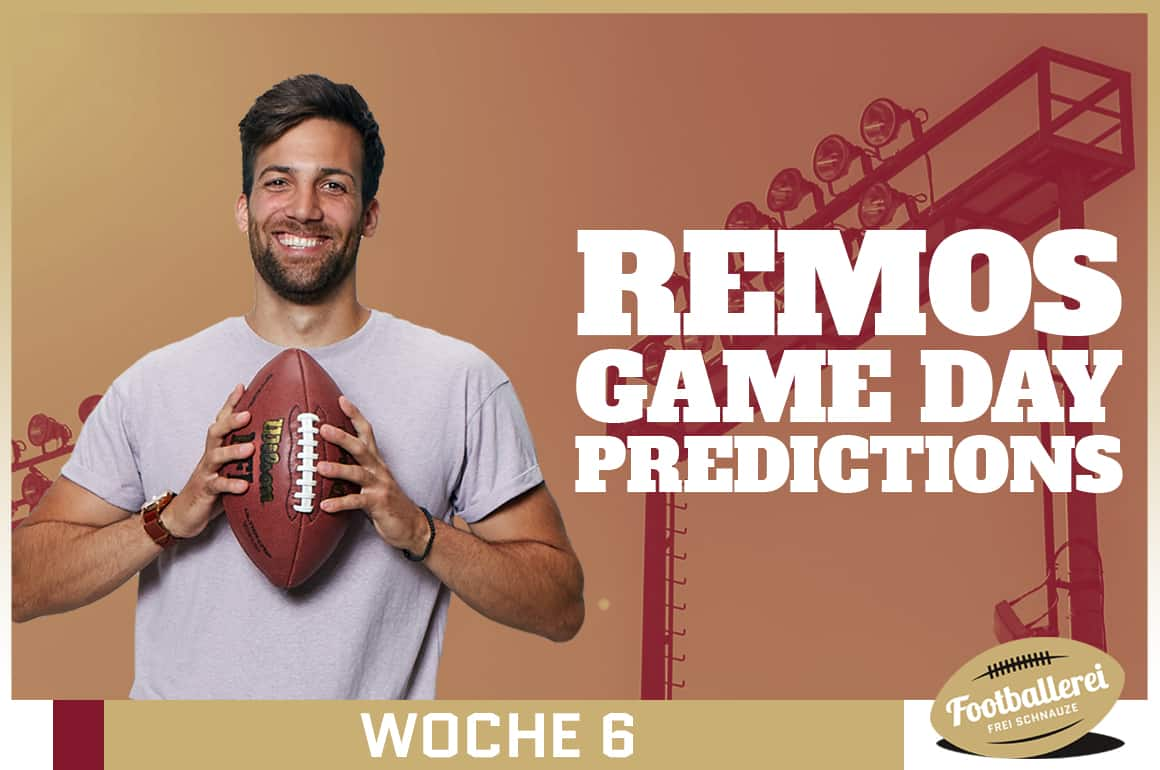 Remos NFL Week 6 Predictions