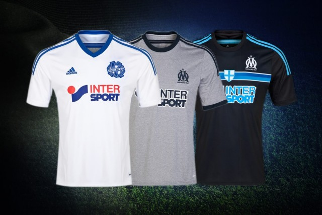 Olympique Marseille 2014 2015 adidas Home, Away and Third Football Kit, Soccer Jersey, Maillot