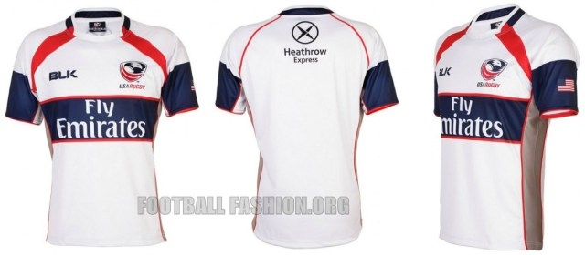 USA Rugby 2014 2015 BLK Home and Away Jersey, Shirt, Kit