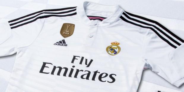 Real Madrid Add FIFA World Champions Badge to 2014 2015 adidas Jersey