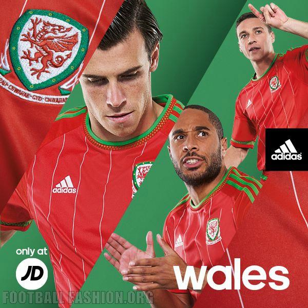 Wales 2014 2015 Red adidas Home Football Kit, Soccer Jersey, Shirt