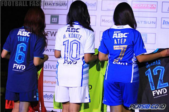 Persib Bandung 2015 League Home, Away and Third Football Kit, Soccer Jersey, Shirt