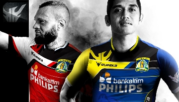Persiba Balikpapan 2015 Eureka Home and Away Football Kit, Soccer Jersey, Shirt