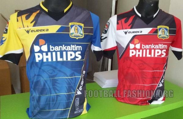 Persiba Balikpapan 2015 Eureka Home and Away Football Kit, Soccer Jersey, Shirt