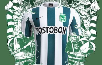 Atlético Nacional 2015 Nike Home Football Kit, Soccer Jersey, Camiseta de Futbol