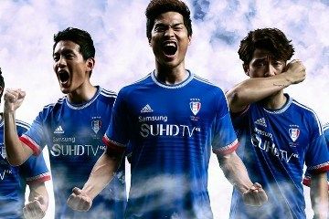 Suwon Samsung Bluewings 2015 adidas Home Football Kit, Soccer Jersey, Shirt